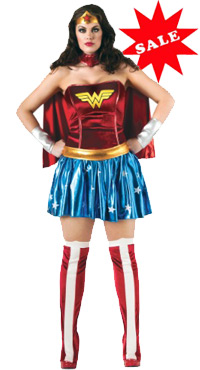 Full Figure Plus Size Wonder Woman Halloween Costume XL