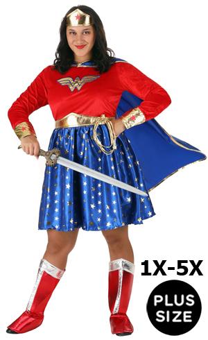 Plus Size 5X Wonder Woman Costume