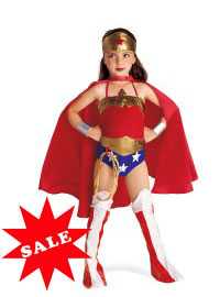 Girls Wonder Woman Child Halloween Costume