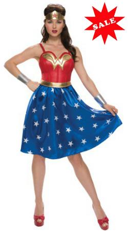 Deluxe Plus Size Long Dress Wonder Woman Costume