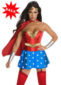 Sexy Wonder Woman Corset Costume Halloween